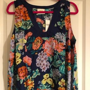 NWT Maeve for Anthro floral sleeveless blouse, 18W